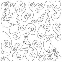 Whimsy Tree Forest End-to-End Quilting Embroidery Design