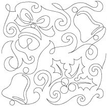 Jingle Bell Holly End-to-End Quilting Embroidery Design