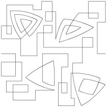 Geometric Run End-to-End Quilting Embroidery Design