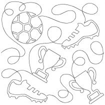 Soccer End-to-End Quilting Embroidery Design