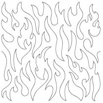 Stipple Flame End-to-End Quilting Embroidery Design
