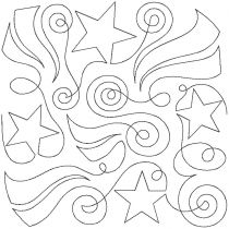 Stars Stripes Swirls End-to-End E2E Allover Edge to Edge Quilting Machine Embroidery Designs by JuJu