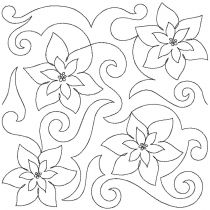 Poinsettia End to End Quilting Designs by JuJu Exclusive Machine Embroidery