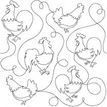 Chickens End to End Quilting Designs by JuJu Exclusive Machine Embroidery