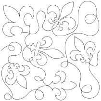 Fleur de Lis End to End Quilting Design Exclusive Machine Embroidery Designs by JuJu