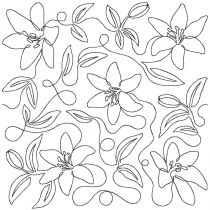 Tiger Lilies End to End Quilting Design Exclusive Machine Embroidery Designs by JuJu