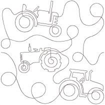 Tractors End-to-End E2E Allover Edge to Edge Quilting Machine Embroidery Designs by JuJu