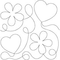 Hearts and Flowers End to End Quilting Design Exclusive Machine Embroidery Designs by JuJu
