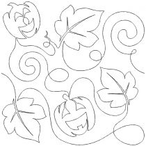 Jackolanterns 1 End to End Quilting Digital Machine Embroidery Designs by JuJu
