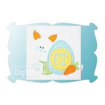 Bunny with Easter Egg Monogram Boy Applique