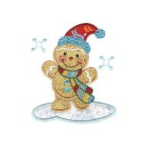 Merry Christmas Ginger Applique