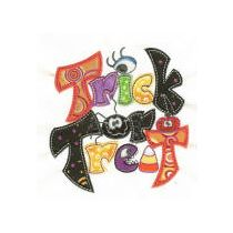 Treats n Tricks Halloween Applique