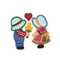 Sunbonnets in Love Applique