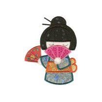 Kokeshi Dolls Applique
