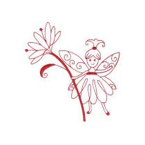 Fanciful Fairies Redwork