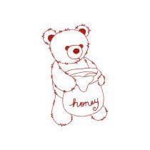 Fuzzy Teddy Bears Redwork