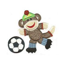 Sock Monkey Sports Applique
