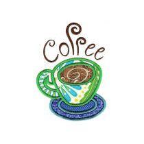 Coffee Shop Applique