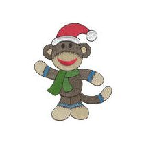 Christmas Sock Monkeys Filled