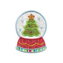 Snowglobes Christmas Applique