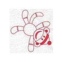 Sock Monkeys Redwork Set 1