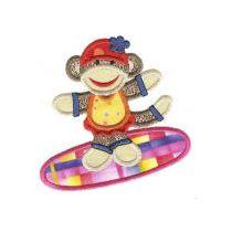 Summer Sock Monkeys Applique