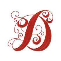 Elegant Curly Monogram Alphabet