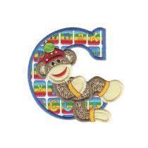 Sock Monkeys Applique Alphabet 5x7