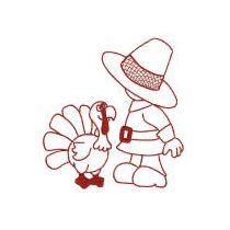 Thanksgiving Sunbonnets Redwork