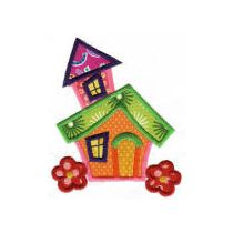 Whimsical Cottages Applique 5x7