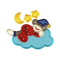 Sleepy Slumber Sock Monkeys Applique