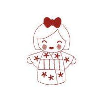 Kokeshi Dolls Redwork