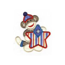 Patriotic Sock Monkeys Applique