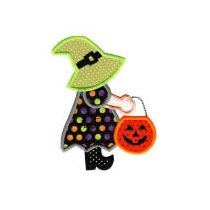 Halloween sunbonnets machine applique embroidery designs