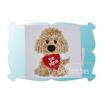 Dog With Valentine Boy Applique