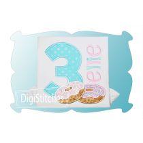 Doughnut Birthday Numbers Applique