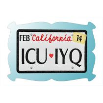ICU IYQ License Plate Applique
