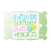 Ive Got Dibs On The Pretty Eggs Applique