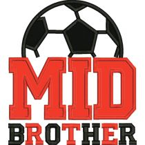 Mid Brother Soccer Applique