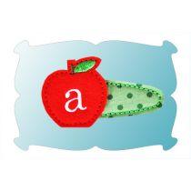 Monogrammed Apple Snap Clip Mini In The Hoop