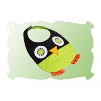 Quilted Owl Baby Bib In The Hoop