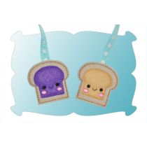 Peanut Butter and Jelly Zipper Pulls In The Hoop