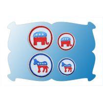 Button Covers Political Set