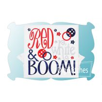 Red White and Boom Applique