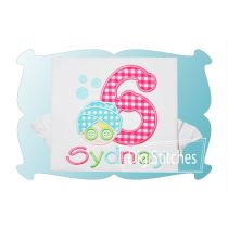 Spa Birthday Numbers Applique