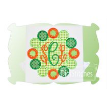 Saint Patricks Chunky Bead Monogram Applique