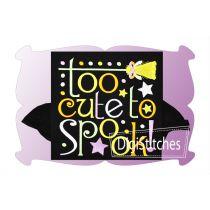Too Cute To Spook Applique