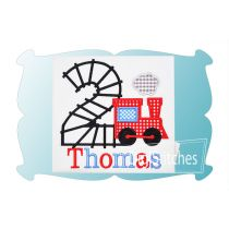 Train Track Birthday Numbers Applique
