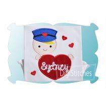 Valentine Mail Carrier Boy Applique