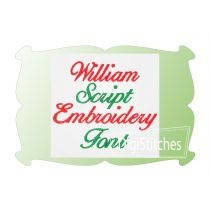 William Script Embroidery Font